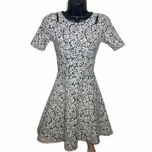 Top Shop | Fit and Flare Floral Dress w Cutouts
